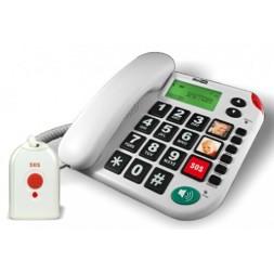 Telefon Stacjonarny dla seniora MAXCOM KXT481 SOS z obrazkami