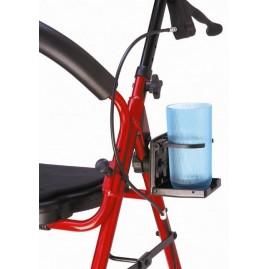 Uchwyt na kubek montowany na balkonik rehabilitacyjny, chodzik, kulę, wózek