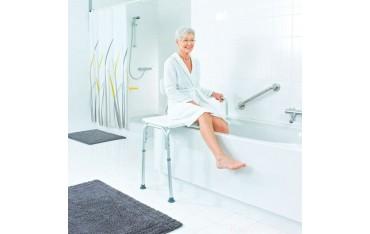 Ławka inwalidzka do łazienki z oparciem KATE