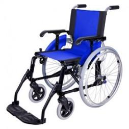 Wózek inwalidzki aluminiowy lekki na szybkozłączach, składany