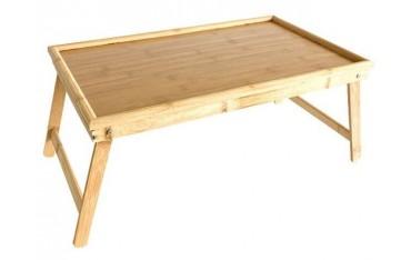 Drewniany stolik śniadaniowy do łóżka