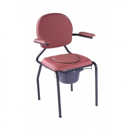 Składany fotel sanitarny BEST UP z uchylnymi podłokietnikami