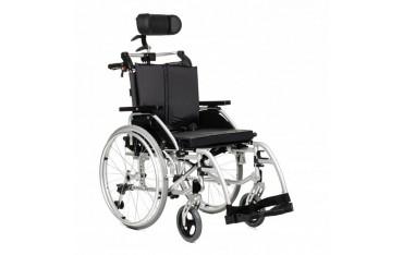 Wózek inwalidzki ręczny z zagłówkiem