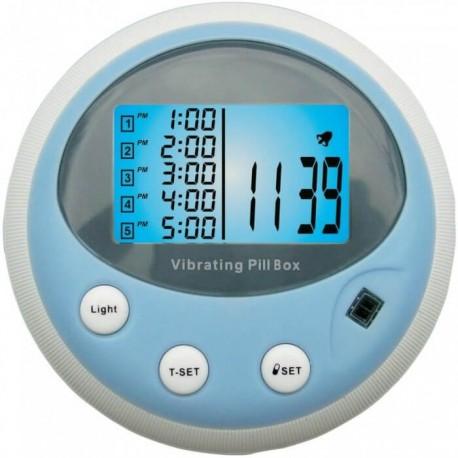 Pojemnik na leki i tabletki z alarmem (5 czasów) + pulsometr