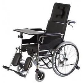 Wózek inwalidzki specjalny, stabilizujący plecy i głowę z funkcją toalety