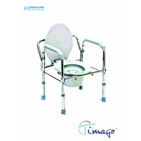 Krzesło toaletowe stalowe