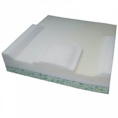 Poduszka Komfort Plus 3 warstwowa z pianki w poszewce z bawełny