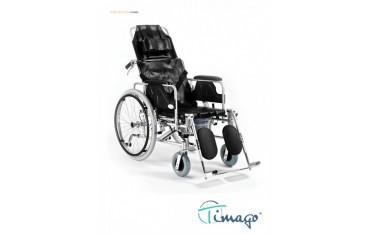 Wózek inwalidzki stabilizujący plecy i głowę z funkcją toaletową