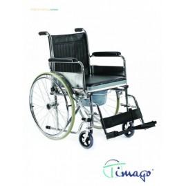Wózek inwalidzki toaletowy ręczny