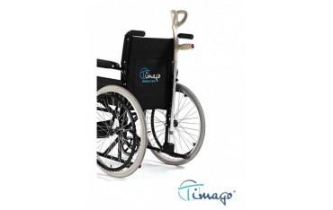 Uchwyt na kule inwalidzkie i laski do wózka