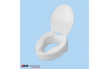 Wysoka nasadka toaletowa z klapą do 190 kg - wysokość 15 cm