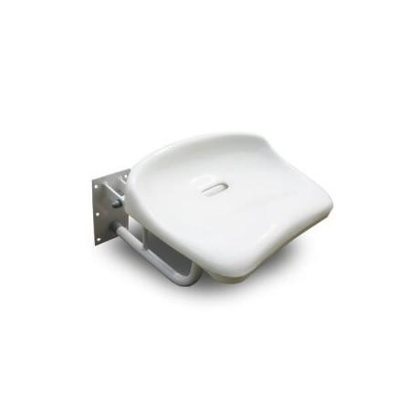Siodełko prysznicowe uchylne montowane do ściany - 140 kg udźwigu