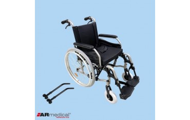 Wózek inwalidzki Dynamic z kołami anty-wywrotnymi