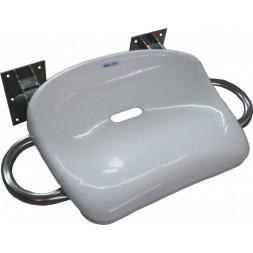 Siodełko uchylne prysznicowe nierdzewne z rączkami