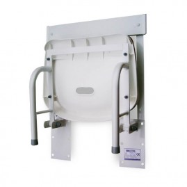 Siedzisko prysznicowe składane naścienne z oparciem