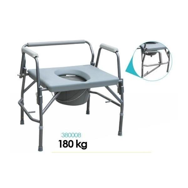 Fotel sanitarny XXL 3 w 1 dla osób otyłych