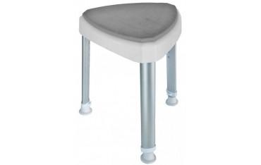 Tójkątny stołek prysznicowy z miękkim siedziskiem