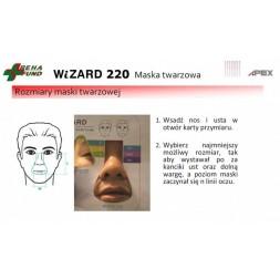 Maska twarzowa z czepcem Wizard 220
