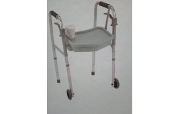 Stolik i pojemnik w jednym do balkonika inwalidzkiego