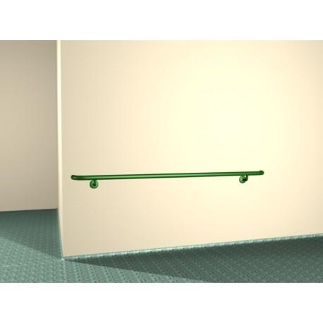 Poręcze odbojowe ścienne szpitalne 25 mm białe malowane proszkowo.