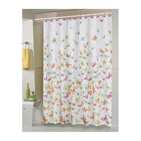Drążek zasłony brodzika prysznica Biały malowany