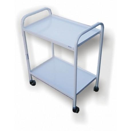 AP 8 stolik 2 półkowy z metalowymi blatami