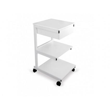 Stolik pod aparaturę metalowy III półki + szuflada