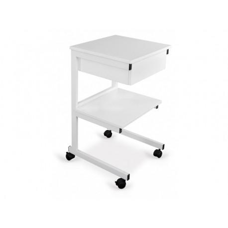 Stolik pod aparaturę aluminiowy II półki + szuflada