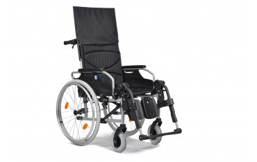Wózek specjalny ze stabilizacją głowy i pleców z odchylanym oparciem