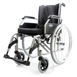 Wózek inwalidzki aluminiowy na ramie składanej (krzyżak)