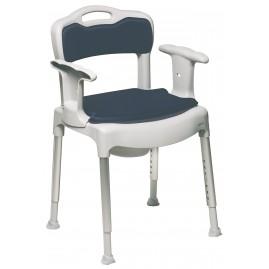 Etac Swift Commode - krzesełko toaletowe (wielofunkcyjne) z wyjmowanymi: podłokietnikami i oparciem (130 kg)