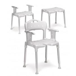 Etac Swift - krzesełko prysznicowe z wyjmowanymi: podłokietnikami i oparciem