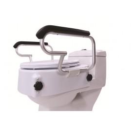 Nasadka toaletowa z klapą i podłokietnikami z regulacją wysokości