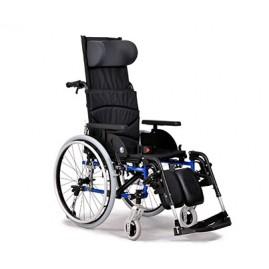 Wózek ze stabilizacją z odchylanym  przy pomocy sprężyny hydraulicznej oparciem