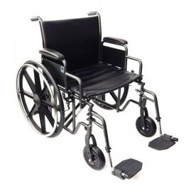 Wzmocniony wózek inwalidzki dla osób otyłych do 225 kg !