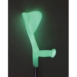 Kula inwalidzka łokciowa fluorescencyjna świecąca w nocy