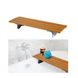 Drewniana ławka na wannę , ławeczka wannowa drewniana - 4 listwy