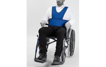 Kaftan na rzep stabilizujący tułów do wózka inwalidzkiego