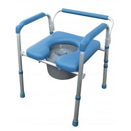 Fotel sanitarno prysznicowy 4w1 z regulacją wysokości