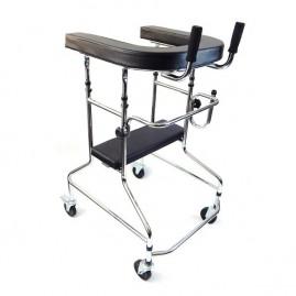 Podpórka ułatwiająca chodzenie typu ambona z siedziksiem