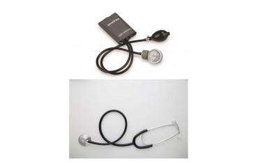 Ciśnieniomierz zegarowy ze stetoskopem - komplet dla lekarza