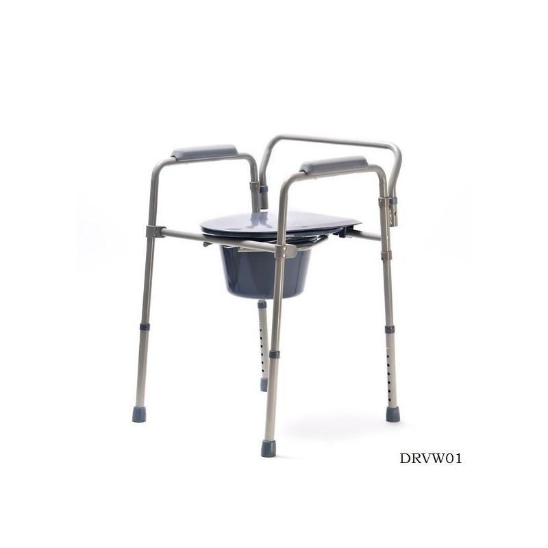 Krzesło toaletowe z regulacją wysokości Pomoce dla Seniora