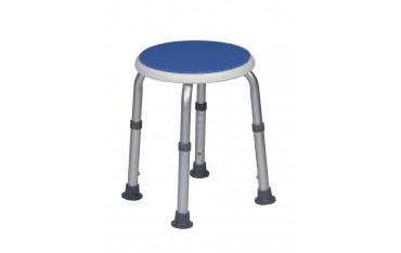 Okrągły taboret łazienkowy BLUE z miękkim siedziskiem od firmy ASTON - 528020