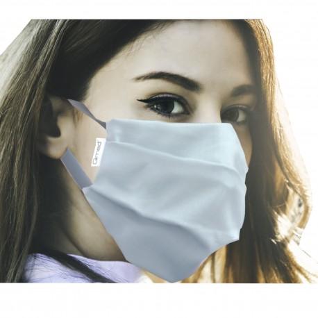 Bawełniana maseczka ochronna na twarz wielokrotnego użytku na gumki QMED - 1 szt.