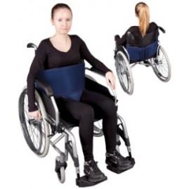 Pas stabilizujący do wózka - mocowanie brzuszne z ujęciem krocza na rzepy