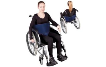 """Pas stabilizujący do wózka - mocowanie brzuszne z ujęciem krocza na rzepy """"III"""""""