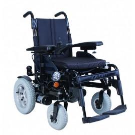 Tani wózek inwalidzki EASY W1032 z napędem elektrycznym na ramie składanej od VITEA CARE