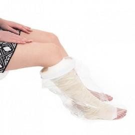 Wodoszczelny ochraniacz na opatrunek nogi z membraną - do kostki