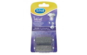Scholl Velvet Smooth Wet&Dry Silnie ścierające głowice obrotowe z kryształkami diamentów 2 sztuki