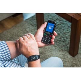 Telefon komórki dla osób starszych MM735 z bransoletką SOS od firmy MAXCOM